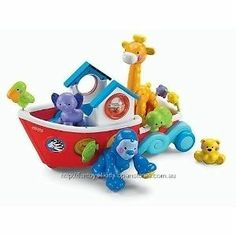 NEW Fisher Price Amazing Animals Roll-Along Musical Ark