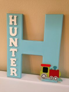 Custom baby boy name decor Hunter