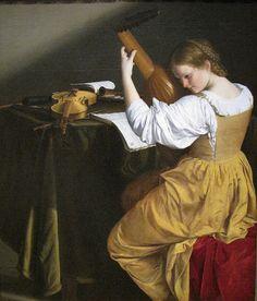 Orazio Gentileschi, lute player (1612-1620) - Google Search