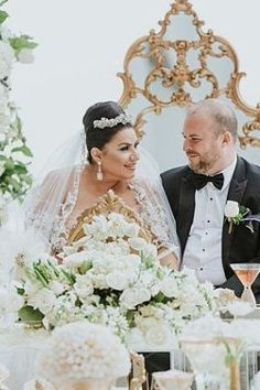 Romantic bride and groom photo | White Opulent Wedding with bride and groom - Photo: Dmitry Shumanev Production