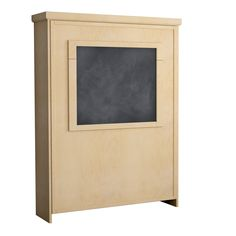Camden Murphy Bed in Maple - Natural Finish.  Shown with Chalk Board