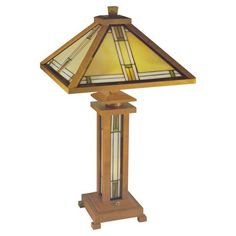 Stickley Mission Prairie Corn Stained Glass Floor Lamp