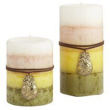 Pineapple Basil Layered Pillars