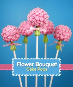 These Flower Bouquet Cake Pops are absolutely darling! #dessert #cake