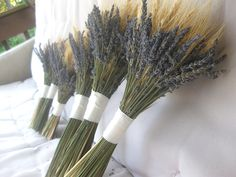 Lavender and Wheat Bouquet for Country, Farm, Vintage Chic Wedding