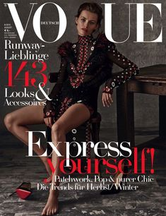 Edita Vilkeviciute, Vogue Magazine [Germany] (August 2015)