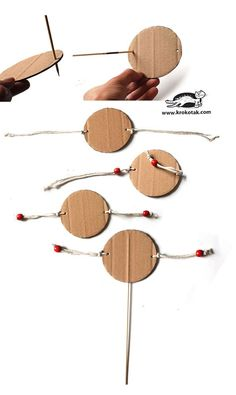 Instruments de Musique How to make easy spin drum (krokotak) New Year's Crafts, Vbs Crafts, Camping Crafts, Summer Crafts, Preschool Activities, Preschool Music, Camping Site, Diy For Kids, Crafts For Kids