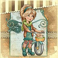 Autumn Ride - $3.00 : Digital Stamps, Scrapbooking, Crafts, Artisan Resources, cardMaking, Paper Crafts, Digital Crafting by The Paper Shelter
