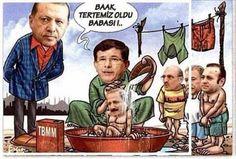 """Davutoğlundan açıklama: İzmir'de konuşan eski Başbakan Ahmet Davutoğlu, """"New York'ta o mahkemede sunulan belgelerin 17-25 Aralık ile irtibatı dolayısıyla bizim açımızdan hükmü yoktur"""" dedi ve rüşvet alan, haksız kazanç sağlayanlardan hesap sorulması gerektiğini belirtti. Yani hesabın Ankara'da sorulması gerekir diyor.  O dönemde sen başbakan değilmiydin neden sormadın? akp nin genelinde ise büyük resme bakmak lazım deniliyor.  Bizim hatırladığımız resim aşağıda. Bu ne düzenbazlıkyahu."""