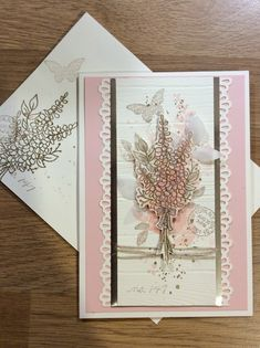 Stampin' Up! lots of lavender, butterfly basics,