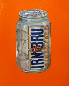 """""""IRN BRU"""" (2014) oil on canvas (20x27cm) by Tiina Lilja"""