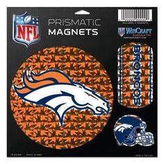 """Denver Broncos Magnets - 11""""x11"""" Prismatic Sheet"""
