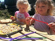 kids craft cheerio birdfeeder