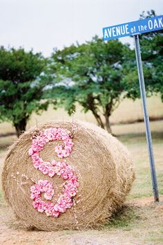 at the road to the wedding?  love this for a country wedding