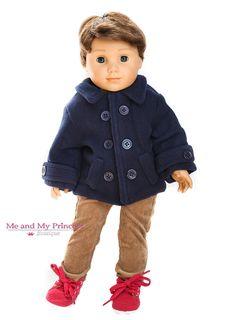 Fleece Jacket, Corduroy Pants, Ankle Boots doll clothes for American Boy Doll Boy Doll Clothes, Doll Clothes Patterns, Sewing Patterns, American Boy Doll, American Doll Clothes, Corduroy Pants, Doll Accessories, Aspen, Girl Dolls