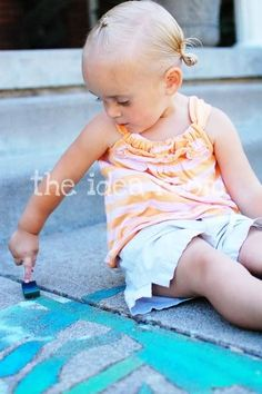 Make your own sidewalk chalk - would be really fun with those homemade sponges you just made. ; )