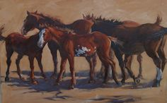 Horse painting ~ Legs by Sonja Caywood Oil ~ 18 x 25