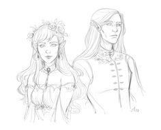 Elain and Lucien by ak-draws