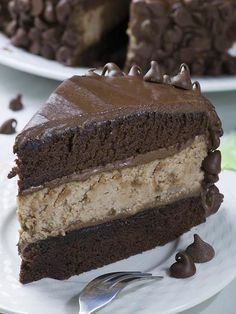 """Hershey's Chocolate Cheesecake Cake is rich and decadent combo of my favorite chocolate cheesecake and Hershey's """"Perfectly Chocolate"""" Chocolate..."""