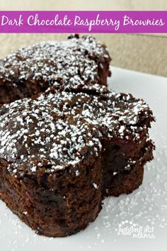 This recipe for Quick Dark Chocolate Raspberry Brownies is semi-homemade perfection!