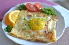 Hungry Ducky: Ham & Egg Crêpe Squares