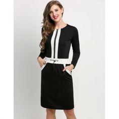Stylish Ladies Women Long Sleeve Casual Knee Length Sexy Bodycon Drawstring…