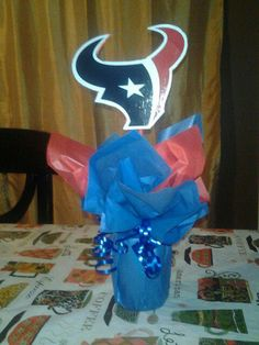 Texans Centerpiece I made for a party!