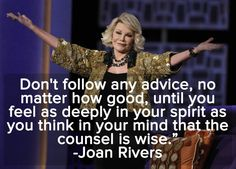 You will be missed Joan. I just found out and I'm sad. Love you always said how you feel.