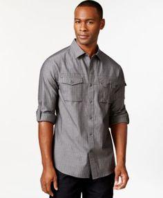 Sean John Striped Button-Front Shirt