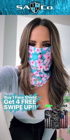 Protect Your Hair and Face from Cold, Sun, Dust, & Allergens. Made of UPF 40 Microfiber. All Face Shields come with a Lifetime Warranty! Join the SA Team Today! What are you suggestion on good Easy Face Masks, Diy Face Mask, Creation Couture, Looks Chic, Mouth Mask, Diy Mask, Cool Things To Buy, Stuff To Buy, Beauty Hacks