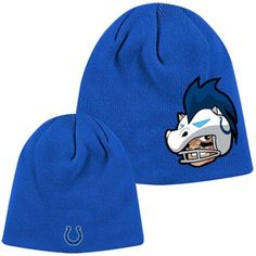 0546bd9159d Indianapolis Colts Youth Rush Zone Uncuffed Knit Hat - Royal Blue