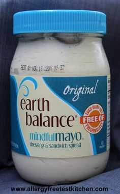 Earth Balance Mindful Mayo   Free of eggs, dairy, soy and preservatives, also non-GMO