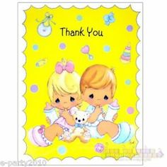 precious moments greeting cards | Precious Moments Party Supplies Thank You Cards Baby | eBay