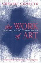 Genette, Gérard. The Work of Art: Immanence and Transcendence. Ithaca, N.Y: Cornell University Press, 1997. Print.