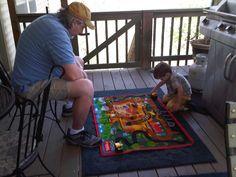 It's a construction site!  Grampa explains.