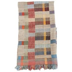 Handwoven Indian Throw   From a unique collection of antique and modern textiles and quilts at https://www.1stdibs.com/furniture/more-furniture-collectibles/textiles-quilts/
