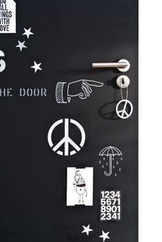krijtbord deur