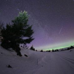Milky Way Trysil Norway As Good As Dead, Beautiful Norway, Milky Way, Mother Nature, Skiing, Birth, Northern Lights, Beautiful Places, Scenery
