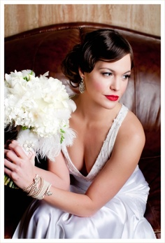 the lucky elephant vintage-inspired wedding bracelets & Giggar Makeup Artistry, 1930's Wedding
