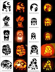 Free Halloween Vectors, PSD, Icons & Party Posters for 2014 Free-printable-Scary-Halloween-Pumpkin-Carving-Stencils-Patterns Minion Pumpkin Carving, Scary Pumpkin Carving Patterns, Halloween Pumpkin Carving Stencils, Amazing Pumpkin Carving, Pumpkin Carving Templates, Pumpkin Carvings, Minion Pumpkin Template, Minion Pumpkin Stencil, Minion Stencil