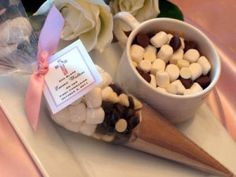 Christening HOT COCOA CONE Chocolate favors