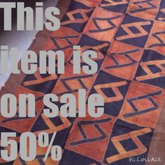 A personal favorite from my Etsy shop https://www.etsy.com/listing/199861290/tukula-floor-mat-or-wall-hanging-50-off