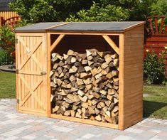 D Tongue and Groove Wooden Garden Shed WFX Utility Firewood Holder, Firewood Shed, Firewood Storage, Shed Storage, Porches, Shiplap Cladding, Plastic Sheds, Farm Layout, Closets