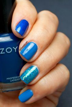 Lydia's Nails: Blue Gradient Nails