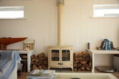 I'd love a cream log burner in my new home.