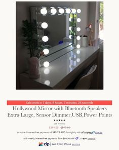 Our famous Premium Bluetooth Hollywood Mirrors are now on sale!! $200 off!!!!!!! www.xceleratoronline.com.au#xceleratoronline #xoxoxohollywoodmirror #makeupaustralia #australianmakeupartist #makeupartistaustralia #australianmakeup Hollywood Mirror, Mirrors, Bluetooth, Vanity, Instagram Posts, Home Decor, Dressing Tables, Powder Room, Decoration Home