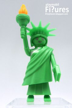"""Lady Liberty for Kids Play and Storytelling! Add Playmobil """"Statue of Liberty"""" Mini Figure to your Kids Imaginative Play-world. Carl Y Ellie, Playmobil Toys, Nerf Toys, Garbage Pail Kids, Vinyl Toys, Designer Toys, Imaginative Play, Creative Thinking, Series 3"""
