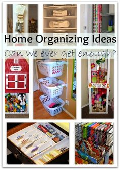 HANDY DIY: Home Organizing Ideas – Can We Ever Get Enough Of Them???