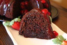 Dark Chocolate Strawberry Margarita Cake