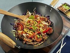 Thai Shrimp, Peanut, and Vegetable Stir Fry Recipe - Above & Beyond